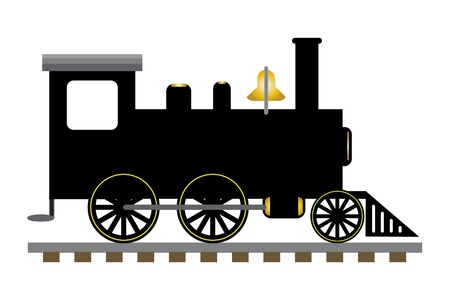 Train engine illustration  Stock Photo