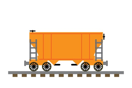 Train hopper car illustration