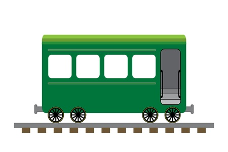 passenger: Train passenger car illustration