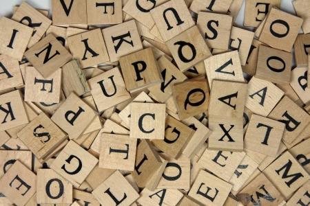 木製アルファベット タイル