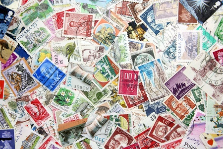 postage stamp: International postage stamps Editorial