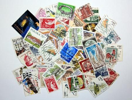 postage: European postage stamps Stock Photo
