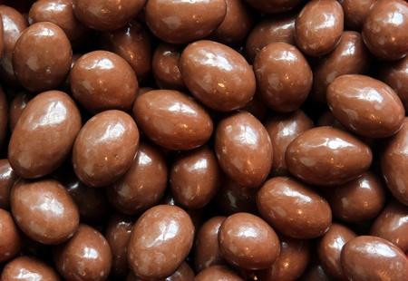 Chocolade bedekt amandelen Stockfoto