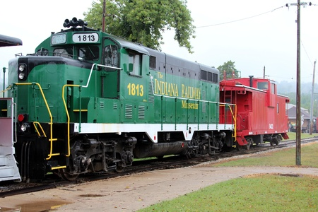 caboose: French Lick Indiana, September 4, 2011: Railway Museum Editorial