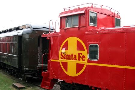 fe: Dallas, Texas, July 2007 - Railway Museum Santa Fe caboose Editorial