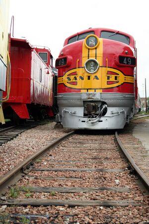 fe: Dallas, Texas, July 2007 - Railway Museum Santa Fe Train engine Editorial