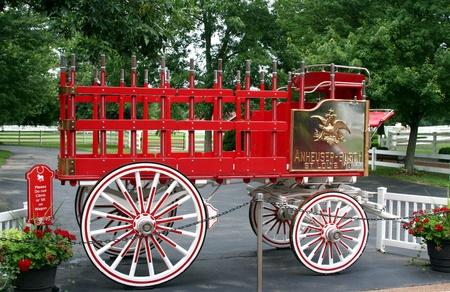 grants: St Louis Missouri, June 2011, Anheuser-Busch beer wagon at Grants Farm