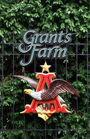 St Louis Missouri, June 2011, Anheuser-Busch logo at Grants Farm