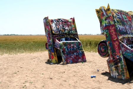 Amarillo, Texas, June 2010 - Cadillac ranch public art sculpture