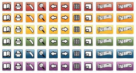 Set of e-book icons Stock Vector - 10803897