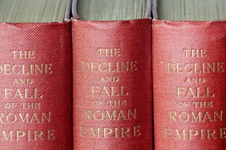historian: Decline and Fall of the Roman Empire books written by British historian Edward Gibbon from 1776-1789