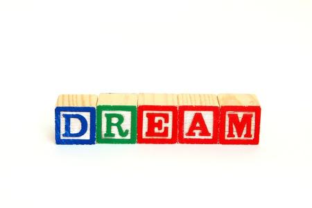 Dream in alphabet blocks
