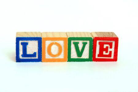 Love in alphabet blocks Stok Fotoğraf
