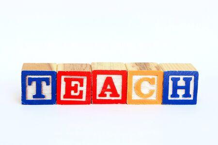 Teach in alphabet blocks