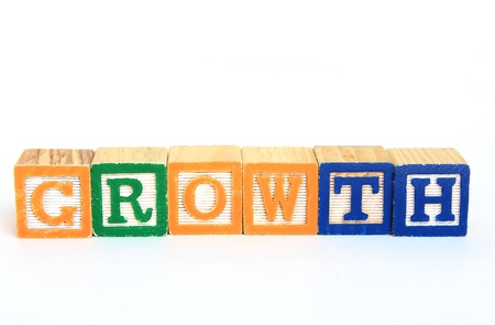 Growth in alphabet blocks