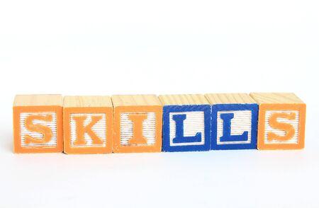 Skills in alphabet blocks