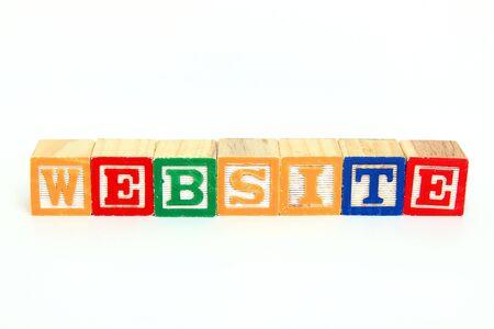 Website in alphabet blocks Stok Fotoğraf