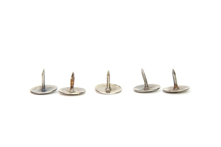 nails: Five tacks Stock Photo