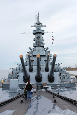 Mobile, Alabama, November 2011 - Tourists on USS Alabama Navy Warship Editorial
