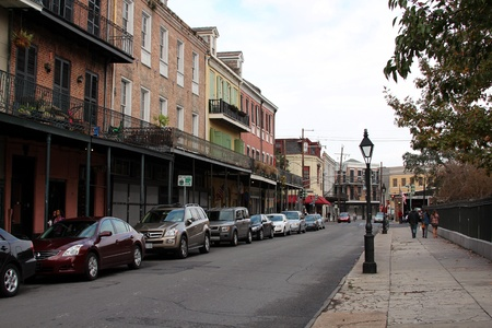 French Quarter, New Orleans, Louisiana, November 2011 - Historic buildings and architecture