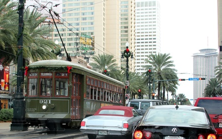 French Quarter, New Orleans, Louisiana, November 2011 - St. Charles Street Car