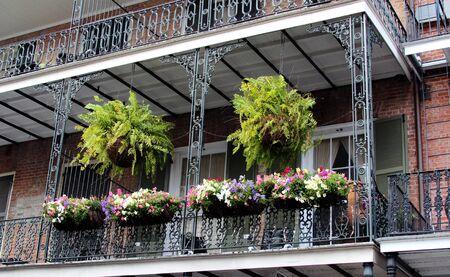 balcony window: November 2011:  French Quarter New Orleans street view