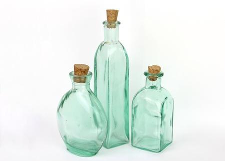 Three glass jars photo