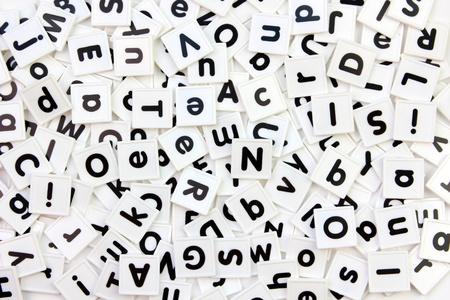 White letter tiles