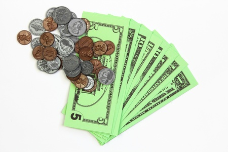 fake money: Fake money from a class on money at school