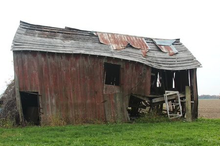 old red barn: Decaying old barn