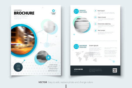 Corporate business annual report cover, brochure or flyer design.