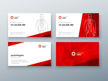 Business card design red business card template for personal business card design red business card template for personal or corporate use layout with fbccfo