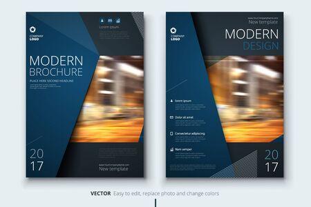 企業年次報告書表紙、パンフレットやチラシ デザイン。リーフレット プレゼンテーション。抽象的な幾何学的な背景を持つカタログします。現代の