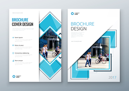 Brochure template layout design. Corporate business annual report, catalog, magazine or flyer mockup. Illustration