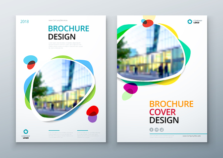 Brochure template layout design. Bright color brochure, catalog, magazine or flyer mockup.