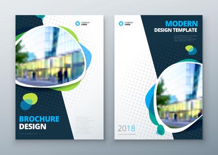 size: Brochure template layout design. Bright color brochure, catalog, magazine or flyer mockup.