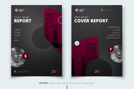 Flyer design. Corporate business report cover, brochure or flyer