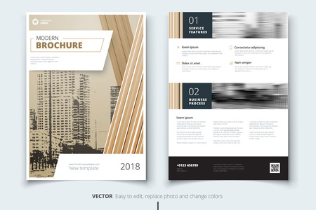 biege: Corporate business annual report cover, brochure or flyer design. Leaflet presentation. Catalog with abstract geometric background. Modern publication poster magazine, layout, template.