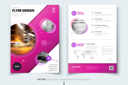 Corporate business annual report cover, brochure or flyer design Illustration