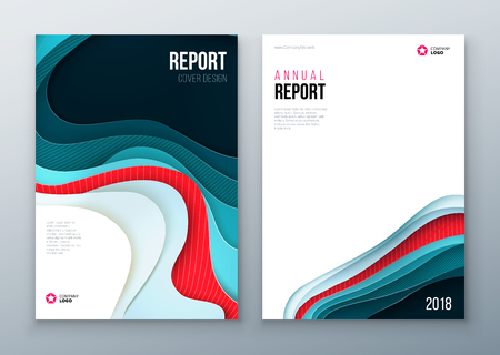 cut paper: Brochure Cover design. Corporate business template for brochure, report, catalog, magazine, book, booklet. Layout with modern paper cut abstract background. Creative vector concept