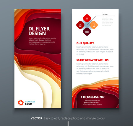 DL flyer design. Corporate business template for brochure or flyer. Layout with modern elements and abstract background. Creative concept flyer or brochure.