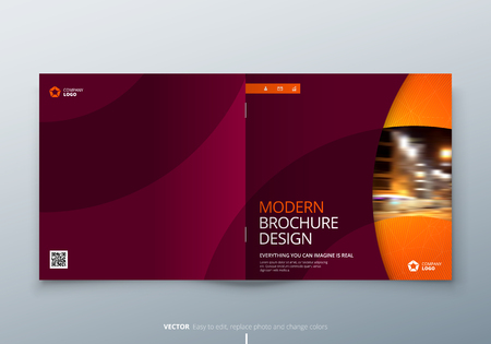 Landscape brochure design black yellow corporate business template red orange corporate business rectangle template brochure report catalog magazine brochure layout modern circle shape abstract background flashek Image collections