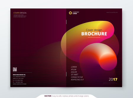 Liquid Brochure Cover. Template for brochure, report, poster, magazine, etc. Modern liquid or fluid abstract.