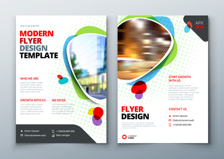 Flyer template layout design business flyer brochure magazine flyer template layout design business flyer brochure magazine or flier mockup in bright accmission Choice Image