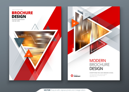 Brochure template layout design. Corporate business annual report, catalog, magazine, flyer mockup. Creative modern bright concept circle round shape Illustration