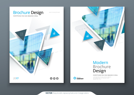 Brochure template layout design. Corporate business annual report, catalog, magazine, flyer mockup. Creative modern bright concept circle round shape Stock Photo
