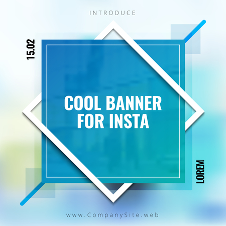 Social banner background. Applicable for Covers, Placards, Posters, Flyers and Banner Designs. Vector illustration. Vettoriali