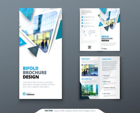 Bi Fold Brochure Design Red Orange Template For Bi Fold Flyer