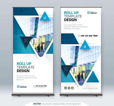 ロールアップバナースタンド。プレゼンテーションコンセプトデザイン。