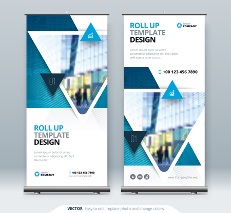 Roll Up Banner stand. Presentation concept design.